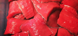 Sockeye Salmon in the Smoke House